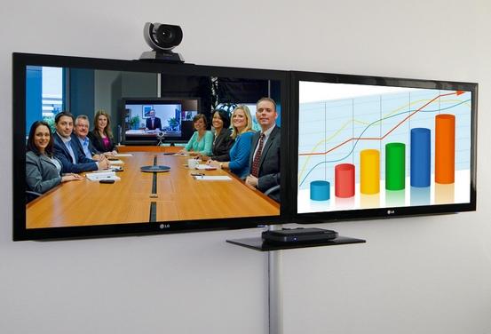 Videokonferenzbildschirme Wandmontage