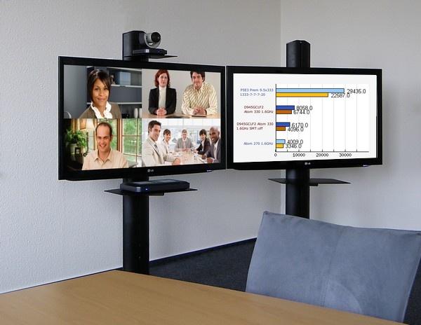 Telepresence Videokonferenz Medienwagen Rollstandfuss
